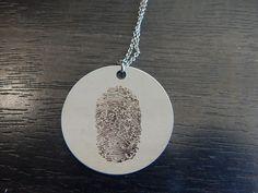 Single Custom Fingerprint Pendant Gift