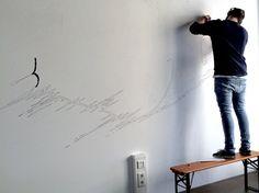 appcom marketing & interactive | office chill room | wand deco | wand design | graffiti | black & white | molotov | wall | loft | sketch | scribble