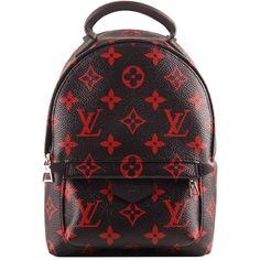 Louis Vuitton Monogram Infrarouge Palm Springs Backpack Mini ❤ liked on Polyvore featuring bags, backpacks, palm tree backpack, louis vuitton backpack, leather daypack, miniature backpack and real leather backpack