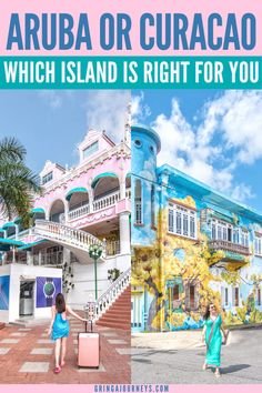 Choosing between Aruba and Curaçao is really difficult, especially because both destinations are worth a visit. Here's my take on Aruba vs Curaçao. #aruba #curacao #dutchcaribbean  | Caribbean vacation | Dutch Caribbean | Aruba travel | Curacao travel | Where to vacation | ABC islands | Top Caribbean islands | Curacao the island | is Aruba or Curacao better | where are Aruba and curacao Places To Travel, Travel Destinations, Places To Visit, Where Is Aruba, Road Trip, Travel Guides, Travel Tips, Budget Travel, Summer Travel