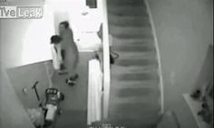 This dad who caught his kid falling down the stairs. | 11 GIFs That Prove Dads Are Superheroes