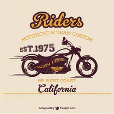 Old Vintage Paper Vectors, Photos and PSD files Motos Vintage, Vintage Motorcycles, Harley Davidson Logo, Vintage Harley Davidson, Flat Track Racing, Motorcycle Posters, Bike Art, Logo Templates, Vintage Posters