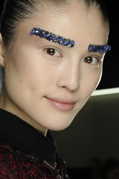 Glitter Eye-brows..Would you try this style??