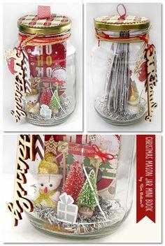 Christmas Mini album in a Mason Jar - Scrapbook.com