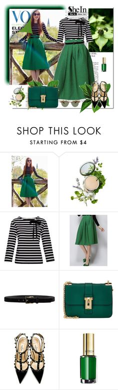 """""""Shein In Green Plaid Skirt"""" by oribeauty-cosmeticos ❤ liked on Polyvore featuring Origins, Marc by Marc Jacobs, D'Amico, Valentino, L'Oréal Paris and Oliver Peoples"""