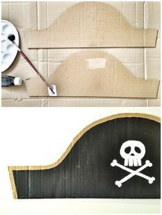 diy pirate costume for kids The Pirate Hat - One of our Favourite Craft Ideas for Children Make your own pirate hat Pirate Costume Couple, Diy Pirate Costume For Kids, Homemade Pirate Costumes, Pirate Dress, Kids Costumes Boys, Halloween Costumes For Kids, Childrens Pirate Costume, Pirate Hat Crafts, Pirate Hats For Kids