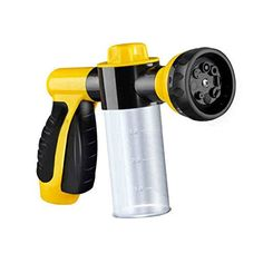 Generic Garden Hose Nozzle Sprayer Free Detachable Shut Valve 8 adjustable PatternCan independently open or closed foam storageBest For Hand Watering Plants  LawnCar WashingPatioDog  More -- Be sure to check out this awesome product.