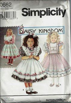 Daisy Kingdom Dress and Pinafore Pattern by DawnsDesignBoutique, $10.00