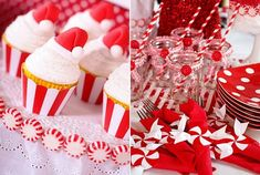 peppermint candy around cake plate...very cute!