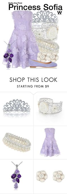 """""""Sofia the First"""" by wearwhatyouwatch ❤ liked on Polyvore featuring Bling Jewelry, Belk & Co., Dorothy Perkins, Jane Norman, Glitzy Rocks, Sergio Rossi, disney, television and wearwhatyouwatch"""