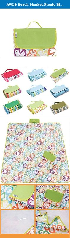 AWLS Beach blanket,Picnic Blanket Tote, nylon material, waterproof, easy to clean, can be used for picnics, camping, hiking, beach size (58 * 80in),clover ¡. Introduce: ALWS is a professional foreign trade companies, have their own suppliers, to provide quality goods, the rest of the copycats quality can't believe, don't you think that you should choose a quality goods Product parameters: (58 * 80in) after folding: 20 * 30 * 5 cm Material: Oxford cloth Weight: 1050 g Fold: yes…