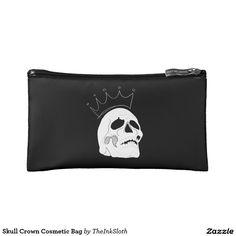 #Skull #Crown #Cosmetic #Bag