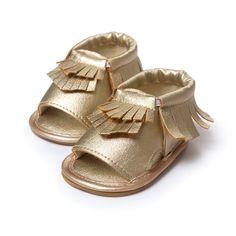 ROMIRUS Infant Toddler Little Kids Sandals Baby Anti-slip Tassel Fringe Moccasin…