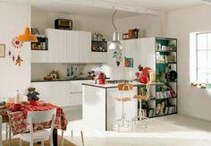 idée de déco de petite cuisine blanche