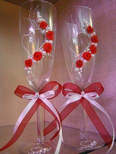 Poder nas mãos: Idéias de decoração vidros de casamento Fiquei apa...