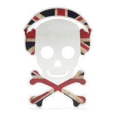 Chambre d'ado : coussin, tapis et lampe style London pour une déco so british ! - L'esprit punk de la Grande-Bretagne est représenté dans ce miroir style tête de mort ! Miroir TÊTE UK en polyméthacrylate de méthyle.Prix : 14,90 ? - Les ados raffolent de la déco qui fait référence à la capitale britannique. Découvrez notre sélection d'objets déco estam