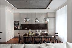 Confira a decoração desse charmoso apartamento de 90m² em Kiev, capital da Ucrânia! Projeto deSergey Makhno.