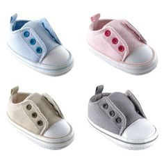 Luvable Friends Laceless Sneaker -                     Price:              View Available Sizes & Colors (Prices May Vary)        Buy It Now      Luvable Friends Laceless Sneakers are a stylish complement to your baby's outfit. Made of durable materials with non-skid soles these baby shoes are available in boy, girl or...