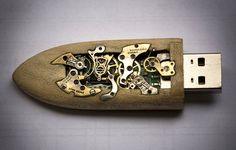Steampunk USB drive - welcome to the retro-future ...