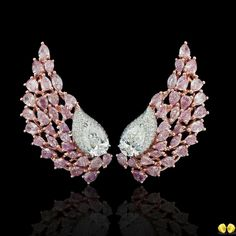 Magnificent combination of design and rare Diamonds from Novel Collection. Star Jewelry, Jewelry For Her, Fine Jewelry, Rare Diamonds, Pink Diamonds, Pink Diamond Earrings, Pink Bling, Unusual Jewelry, Beautiful Earrings
