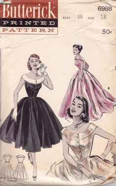 1950s Vintage Sewing Pattern Butterick
