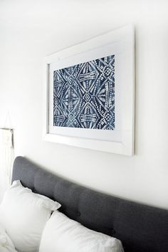 DIY Large Scale Stenciled Art, perfect for the new home