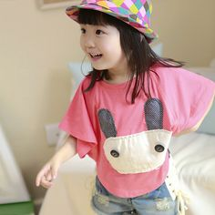 Aliexpress.com : Buy Ploughboys 2013 summer children short sleeve t shirt child female child batwing shirt rabbit o neck casual t shirt from Reliable girls dress shirt suppliers on Fashion Forward Group. $5.09
