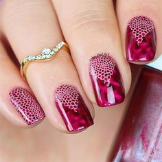 Laces With Magnetic Nail Polish by UrbanNailArtAU from Nail Art Gallery