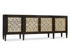 Sanctuary Four Door Mirrored Console- Ebony   Hooker Furniture   Star Furniture   Hooker Furniture – Sam Moore – Bradington Young – Seven Seas