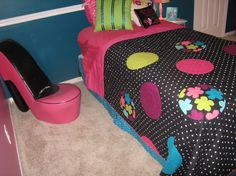 10 year old decorating room ideas | old, This was my 10 year old's birthday present. She wanted her room ...