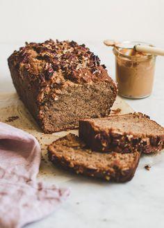 Moist and fluffy peanut butter banana bread    Pretty.Simple.Sweet.