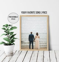 Wedding Song Lyric Art, Anniversary Gifts for men, Custom Song Lyrics Wall Art, Anniversary Gift for husband, First Dance Lyrics DIGITAL 2nd Anniversary Gift For Husband, First Wedding Anniversary Gift, Cotton Anniversary Gifts, Year Anniversary Gifts, Anniversary Ideas, Wedding Song Lyrics, Song Lyrics Art, Wedding Songs, Lyric Art