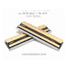 AVEXIR DDR3 8G (4Gx2) PC3-12800 CL9 (9-9-9-24) XMP CORE Series Gold color LED Tuning Memory