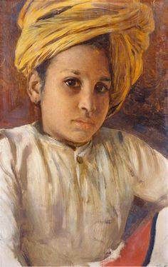 portrait made in India by Rudolf Swoboda (1859-1914)