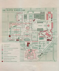 Map of the 1962 Seattle World's Fair