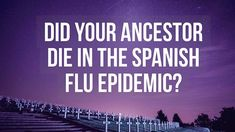 The Spanish Flu pandemic killed 50 million people worldwide. When I learned that a great-aunt died in the 1918 wave of Spanish Flu, it made me want to learn far more about the epidemic and how it might have affected our ancestors' lives.