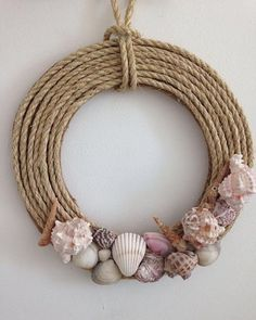 Tried this Pin? Seashell Art, Seashell Crafts, Beach Crafts, Diy Crafts For Home Decor, Diy Arts And Crafts, Diy Wall Decor, Diy Para A Casa, Seashell Projects, Jute Crafts