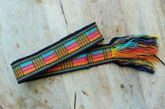 Colombian Chumbes Fabric Belt - Silver Lining