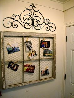 Ok so I finally figured out what to do with this old window frame ...