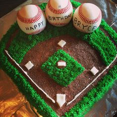 Baseball birthday cakes, birthday cake, birthday cakes for men, baseba Baseball Birthday Cakes, 12th Birthday, Birthday Fun, First Birthday Parties, First Birthdays, Birthday Ideas, Baseball Party, Theme Parties, Cake Birthday