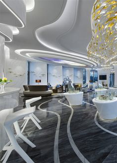 Hangzhou • Long Pilot Marketing Center - Club / Marketing Center - Shenzhen Panshi Interior Design Co., Ltd. Commercial Design, Commercial Interiors, Sales Center, Sales Office, Wooden Ceilings, Club Design, Traditional Interior, Hotel Interiors, Lobbies