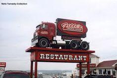 H Model Mack Truck Stop Sign