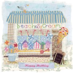 BB13 Beaches & Cream - Handmade Cards from Abigail Mill Embroidery