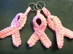 Breast Cancer Awareness Ribbon Keychain/Pin crochet pattern pattern by JMO Creations