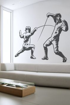 Fencing wall decal by WALLTAT.com - Coach should have this in the break room at the new club!