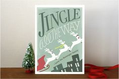 Reindeer Flair Holiday Non-Photo Cards by Griffinb... | Minted