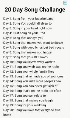 I know we did something like this with christian Music a few weeks ago but i'm gonna do this one too. I know we did something like this with christian Music a few weeks ago but i'm gonna do this one too. 30 Day Music Challenge, Writing Challenge, Music Mood, Mood Songs, Music Lyrics, Music Songs, Gospel Music, Music Journal, Song Suggestions
