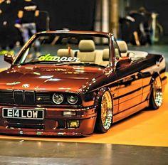 BMW E30 3 series cabrio bronze slammed dapper