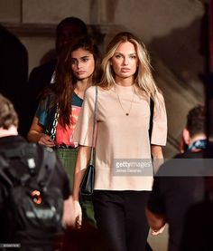 News Photo : Taylor Hill and Romee Strijd leave the Ralph...
