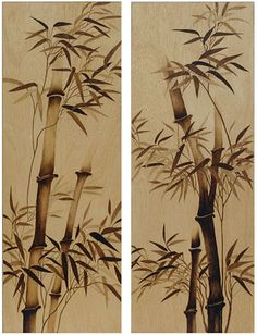 Tall Bamboo Abstract by Cate McCauley